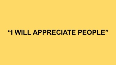 I will appreciate people
